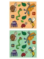 Motif-tissu-enfant-insectes
